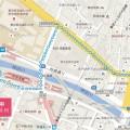 自動追跡型GPSのルート
